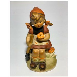 Hummel Girl With Fork Figurine Pig Tails 2623